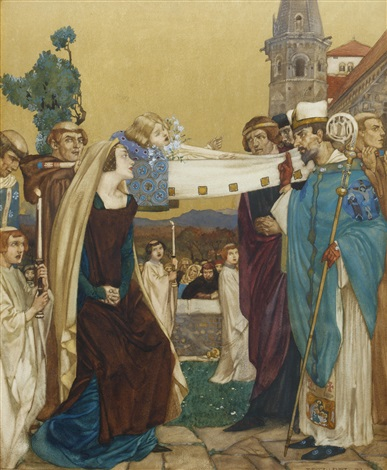 the prioresss tale from canterbury tales by william russell flint