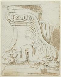 trois études d'après l'antique (3 studies) by augustin pajou