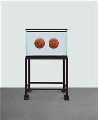 two ball total equilibrium tank (spalding dr. j silver series) by jeff koons