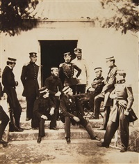 the staff at headquarters, crimea by roger fenton