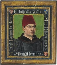 portrait of albertus delantiere, secretary to navarre by jean fouquet