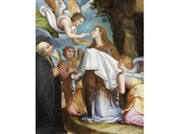 the last communion of mary magdalen with saint benedict by alessandro di cristofano allori
