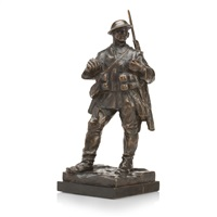 figure of a first world war british soldier by william mcmillan