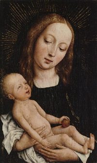 the virgin and child with an apple by master of the magdalen legend