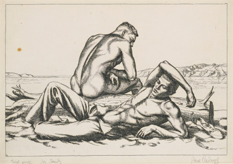 two boys on a beach no 2 by paul cadmus
