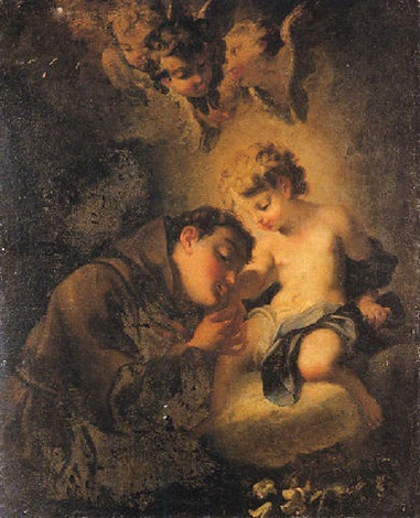 saint françois dassise et lenfant jésus by domenico antonio vaccaro