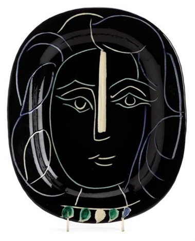 womans face by pablo picasso