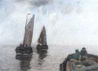 bateaux sur le bas-escaut by richard baseleer
