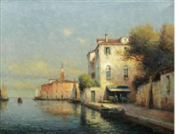 a quiet stretch of canal by noel georges bouvard