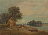 riverbank scene by karoly marko the younger