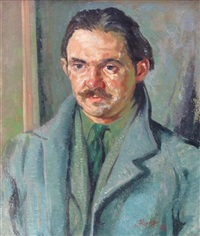 portrait of the artist willy wilson by ian fleming
