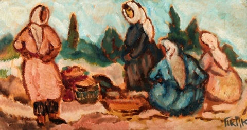 women in the field by arieh allweil