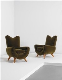 ambassador armchairs (pair) by jean royère