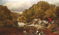 otter hunting on the river tees by walter h. w. foster
