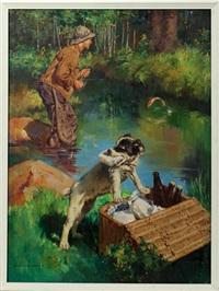fishing scene by harold n. anderson
