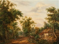 view of a farm by pieter barbiers bartholomeusz