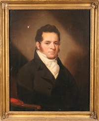 portrait of nathaniel allen esq by ezra ames