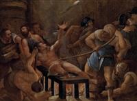 das martyrium des hl. diakons laurentius by titian (tiziano vecelli)
