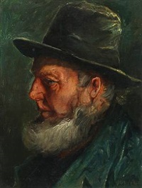 male portrait by michael peter ancher