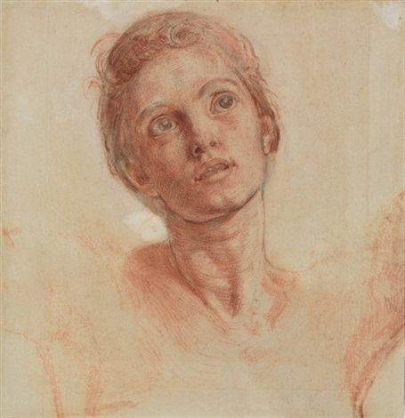 head of christ preparatory study for the shadow of death by william holman hunt