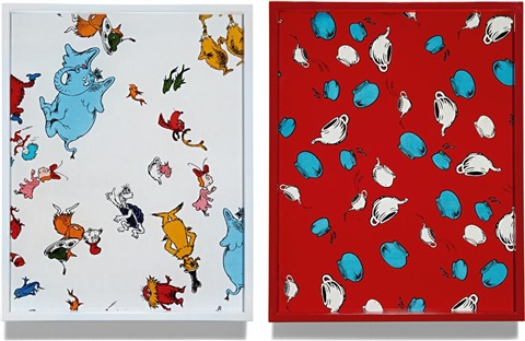 white 044 and red 024 2 works by elad lassry