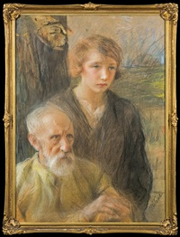 old and young by teodor axentowicz