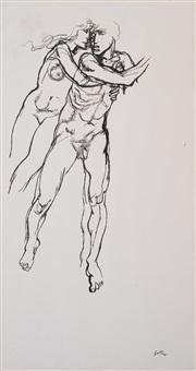 senza titolo (uomo e donna) by renato guttuso