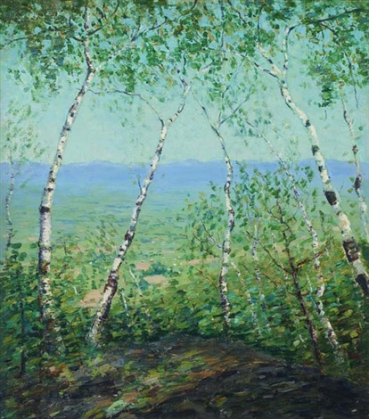white birch trees by emma fordyce macrae