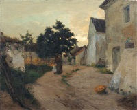 abendstimmung in chamigny (?) by joseph paul mesle