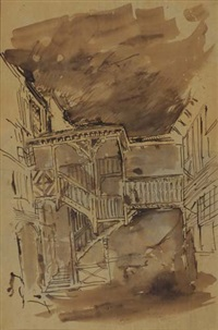staircase in the french quarter by stanford white