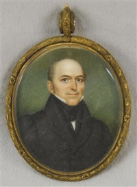 portrait miniature of a gentleman by nathaniel rogers