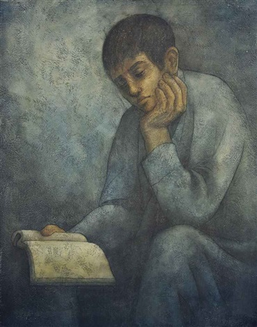 boy reading by louay kayyali