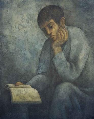 boy reading by louay kayyali
