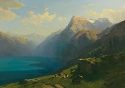 vue du lac des quatre cantons prise du seelisberg view of lake lucerne from seelisberg by alexandre calame