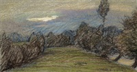 paysages (2 studies) by paul-emile colin