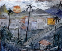 vue du brésil by alberto da veiga guignard
