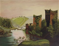 castle scene by thomas chambers