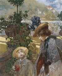 la promenade au jardin by fritz hegenbarth