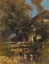 village mill by sergei ivanovich vasil'kovsky