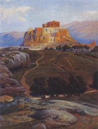 blick auf die akropolis in athen by max roeder