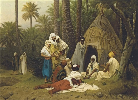 el hiasseub conteur arabe by gustave clarence rodolphe boulanger