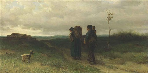 the parting day huiswaarts by jozef israëls
