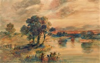 norfolk river landscape by john joseph cotman