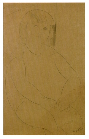 fillette assise by amedeo modigliani