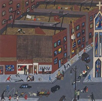 harlem street scene by jacob lawrence