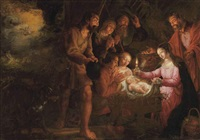 the adoration of the shepherds by peter wtewael