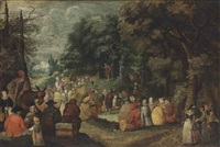 the sermon of saint john the baptist by jan brueghel the younger