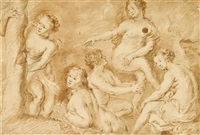 study for 'the death of actaeon' by sir peter paul rubens