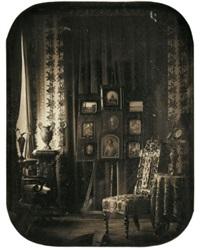 vue du salon du baron gros by jean baptiste louis (baron gros) gros