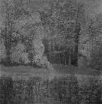 paysage à l'étang by enrique ahil
